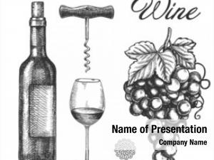 Degustation hand drawn wine