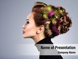 Stylish beautiful model hairstyle