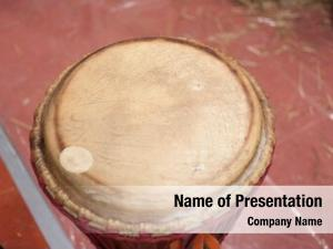African closeup wooden drum