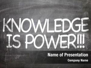 Written knowledge power chalkboard
