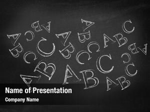 Blackboard abc written