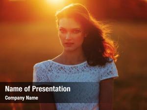 Girl beauty sunshine portrait