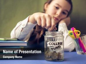Coin girl puts piggy bank