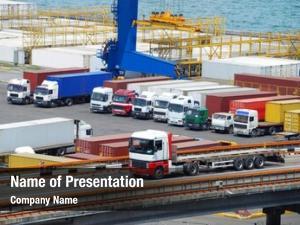Warehouse truck container near sea