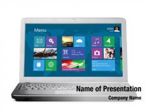 Flat modern laptop user interface,