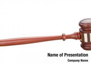 Hammer auction bidding white