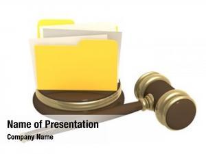 Folder judicial gavel