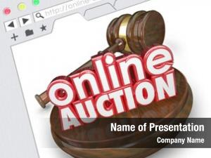 Words online auction wood gavel