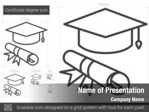 Certificate degree powerpoint background