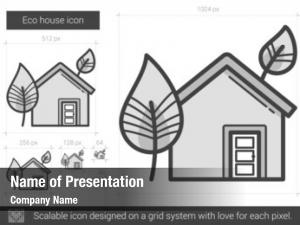 Eco house powerpoint background