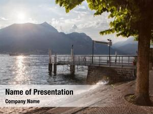 Lake view como sunset pier