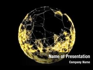 Connected abstract sphere plexus golden