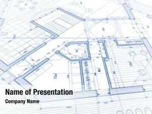 Abstract architectural plan architectural blue
