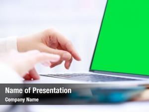 Typing close up shot laptop keyboard