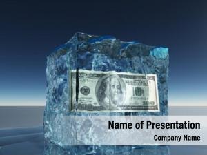 Dollar one hundred bill frozen