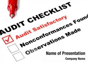Tick audit checklist, against