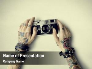 Tattoo camera powerpoint theme