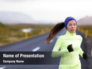 Running female runner warm clothing