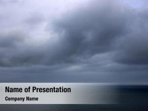 Stormy atlantic ocean landscape stormy