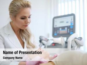 Treatment woman getting aesthetic dermatology