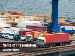 Container truck transport port