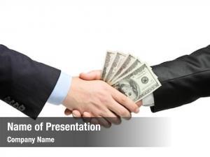 White handshake money