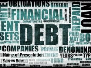 Abstract financial debt background concept