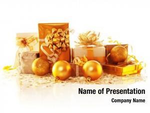 Gift image golden boxes white