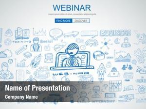 Business webinar concept doodle design