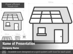 Power efficient powerpoint template