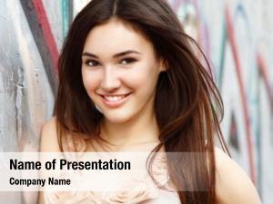 Beautiful portrait smiling fashion girl