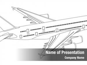 Commercial jet aeroplane