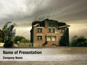 (3d flooding house render)