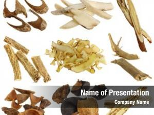 Assortment herbal medicine dried chinese