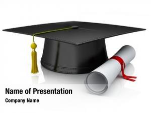 Diploma graduation cap