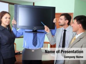 Business business theme: people presentation