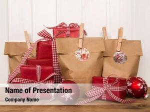 Presents handmade christmas wrapped paper