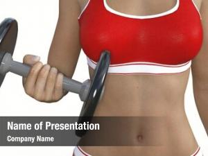 Training lady muscle fit body