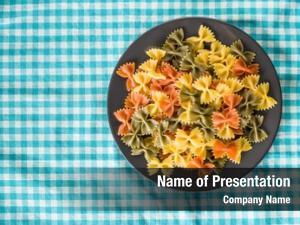 Pasta colorful italian plate