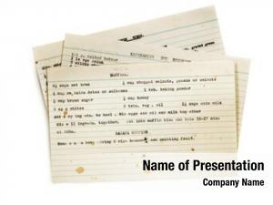 Typed old recipes index cards,