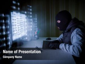 Concentration computer hacker stealing