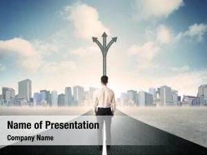 Success concept road businessman standing