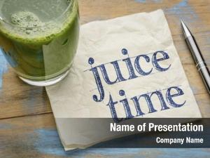 Handwriting juice time napkin glass