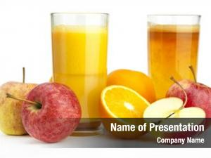 Apple orange juice juice against