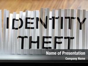 Concept, identity theft shredding personal