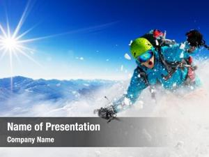 Freeride skier ppt background