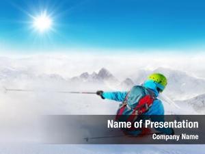 Freeride skier ppt template