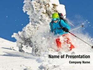 Collision rucksack freeride skier
