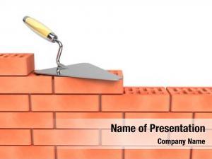 Wall trowel bricks construction