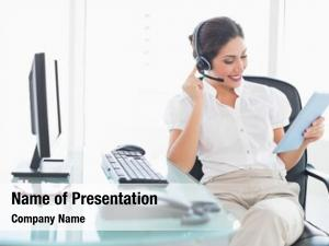 Center smiling call agent using